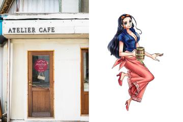 Cake&Coffee Atelier Cafeとロビン